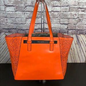 Vince Camuto Orange Perforated Tote/Shoulder Bag